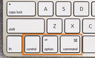 mac keyboard command option keys