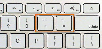 Photo of Mac keyboard