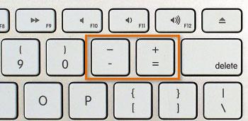 Photo of Mac keyboard