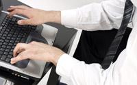 Stock foto shortcut keyboard orang yang melakukan