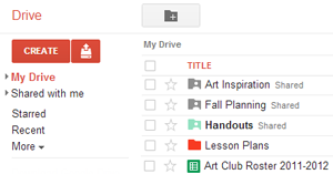 Scerenshot of Google Drive