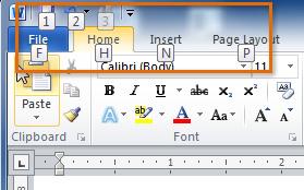 Screenshot dari Microsoft Word