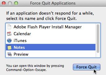 screenshot of OS X