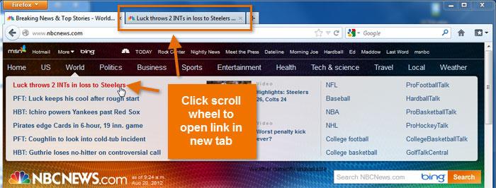 Screenshot of Firefox