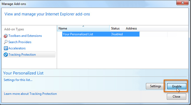 Screenshot of Internet Explorer