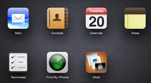 Screenshot of iCloud.com