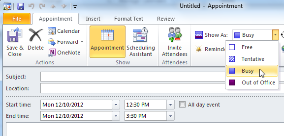 Outlook 2010: Collaborating with Calendars