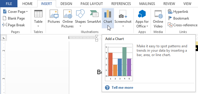 Word 2013 Charts Full Page – How to Make a Chart in Word