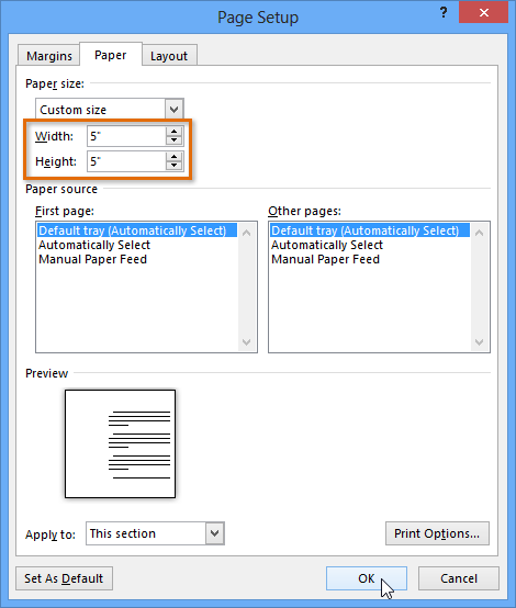 How to Change Page Size in Excel 2010