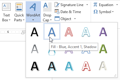 Word 2013 text boxes and wordart full page screenshot of word 2013 ccuart Gallery