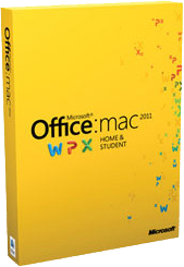 Image of Office for Mac 2011 Product Box