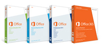 Image of Office 2013 Product Boxs