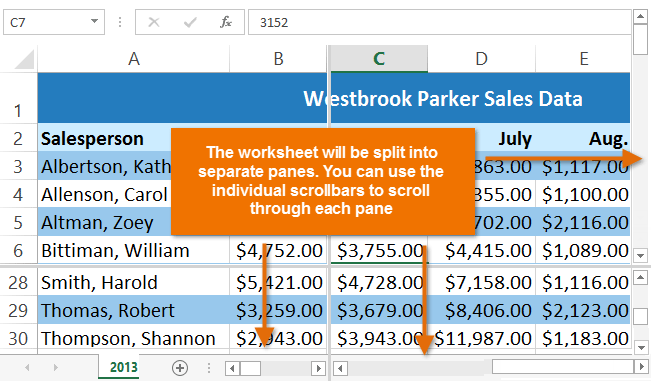 Excel 2013 freezing panes and view options full page screenshot of excel 2013 ccuart Images