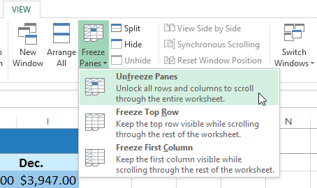 how to lock certain rows in excel 2013