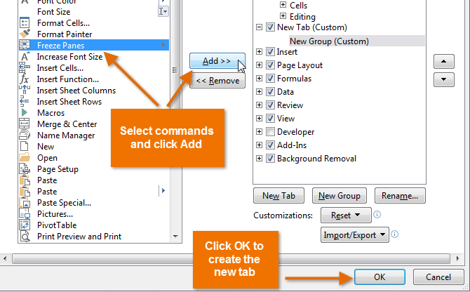 Excel 2013: Excel 2013: Customizing the Ribbon