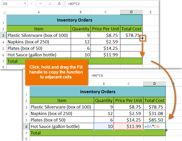 excel 2013 simple formulas
