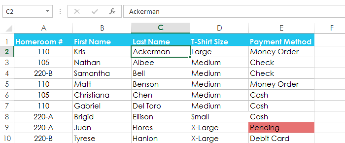 how to set ascending order in excel