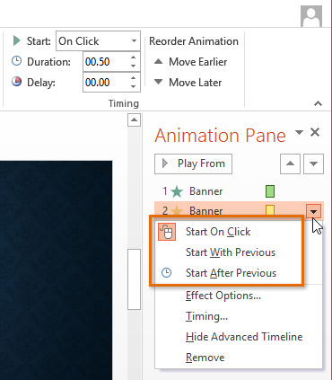 Animation Pane PowerPoint 2013