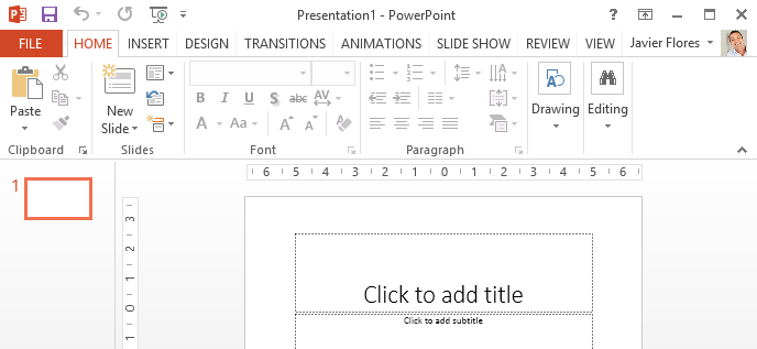 powerpoint 2013 getting to know powerpoint full page