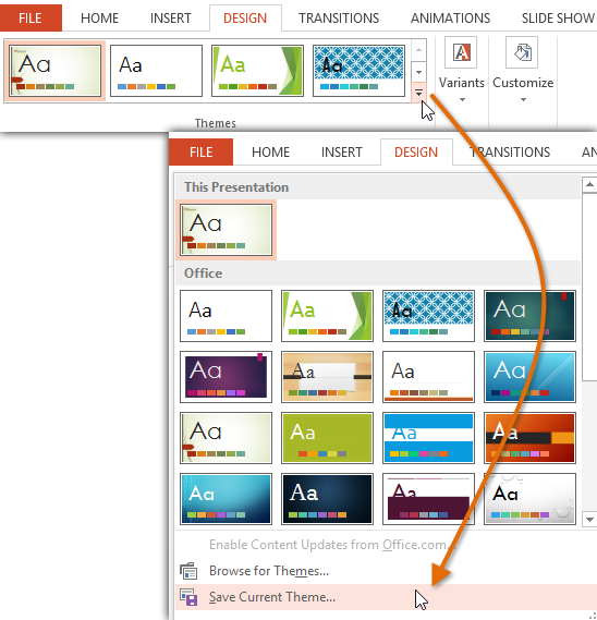 PowerPoint 2013: Slide Master View - Full Page