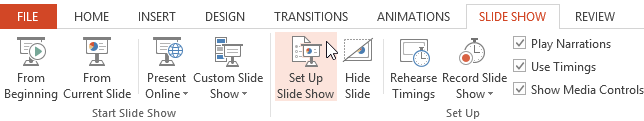 Screenshot of PowerPoint 2013