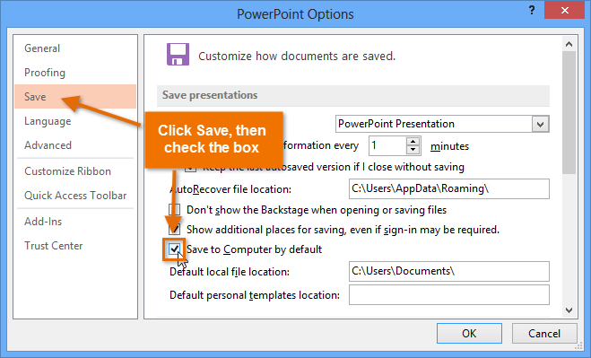 Powerpoint 2013 saving and sharing screenshot of powerpoint 2013 toneelgroepblik Choice Image