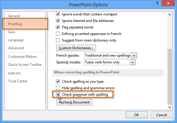PowerPoint 2013: Checking Spelling and Grammar