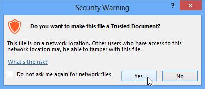 Screenshot of Access 2013