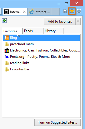 Internet Explorer: Adding and Managing Favorites
