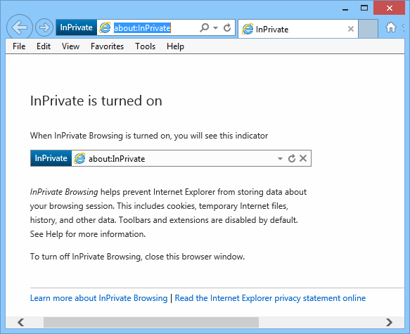 screenshot of Internet Explorer 11