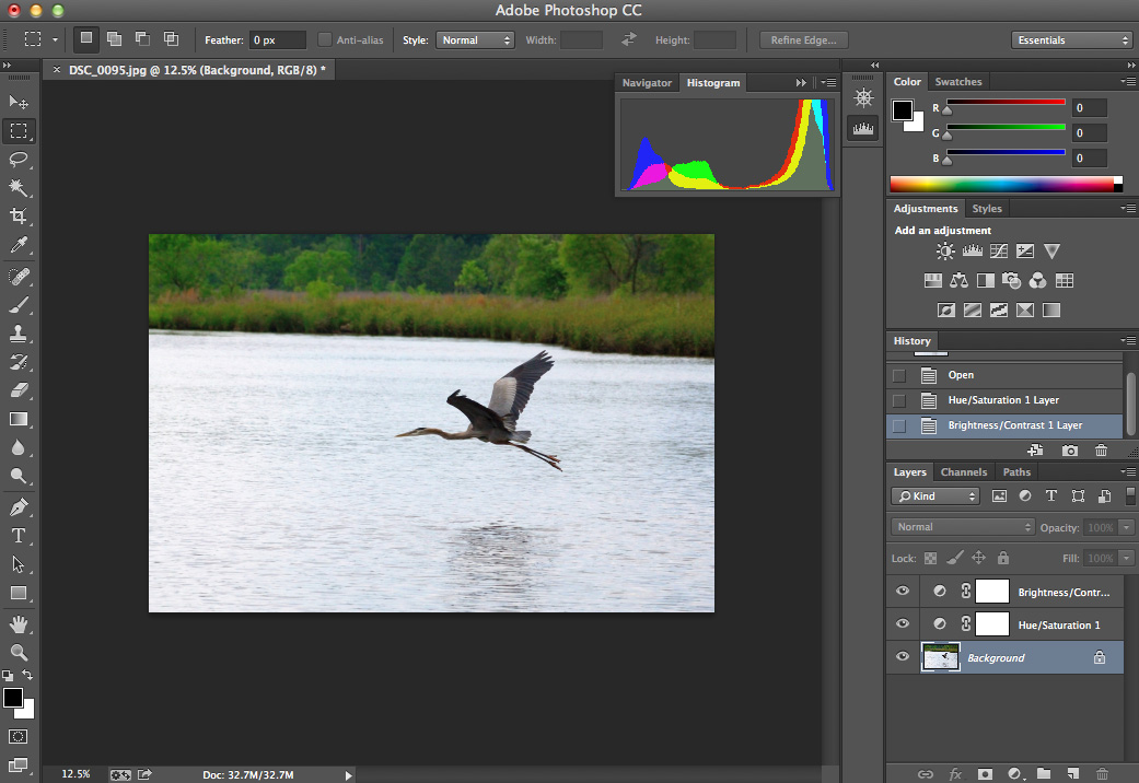 screenshot of photoshop