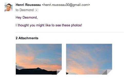 screenshot of gmail