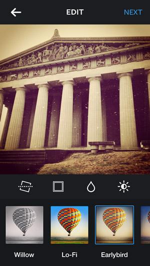 screenshot of Instagram