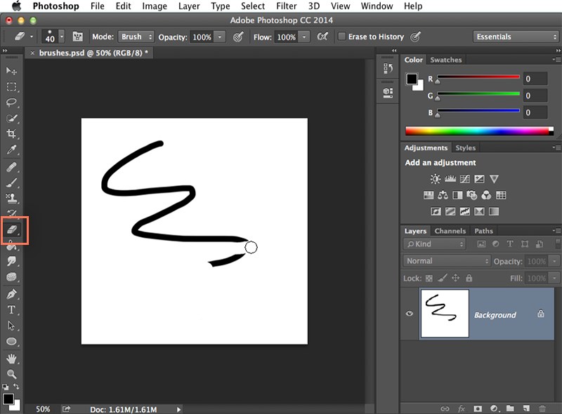 Screenshot of Adobe Photoshop CC