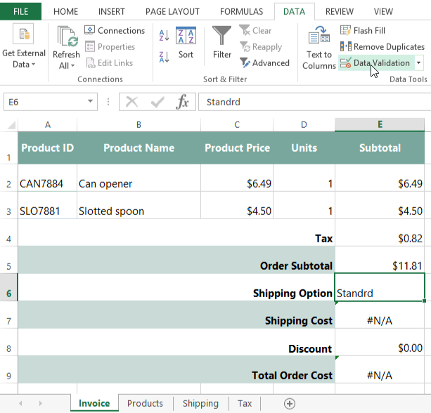 Screenshot Of Excel 2013  How To Make A Invoice In Excel