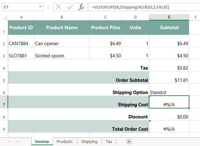 Excel Formulas Invoice Part 5 Data Validation