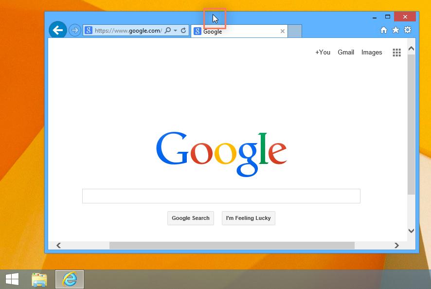 Windows 8的屏幕截图