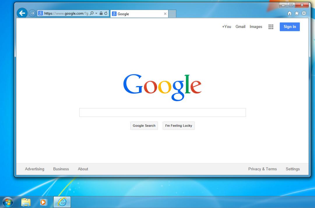 Windows 7的屏幕截图