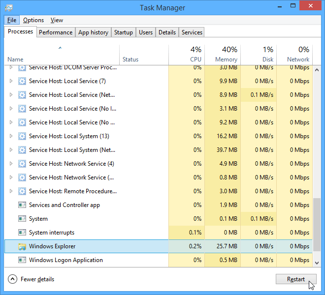 screenshot sistem operasi Windows 8