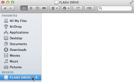 how does flash drive work on mac