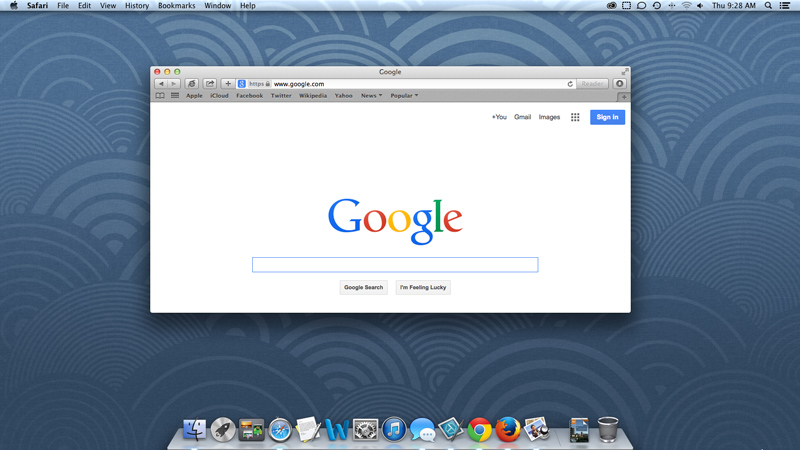 screenshot of OS X