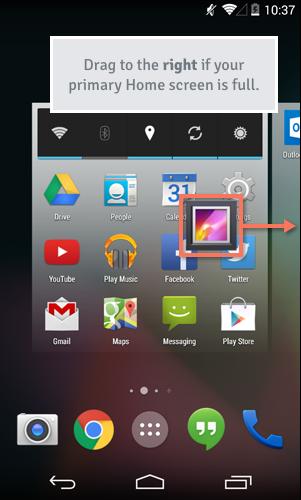 positioning an app