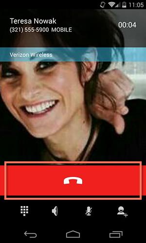 ending a phone call