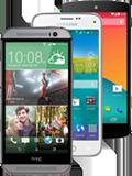 three different smartphones