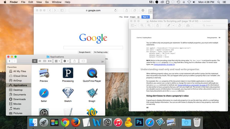 Screenshot of OS X Yosemite