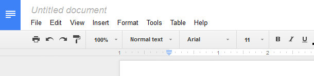 Screenshot of Google Docs