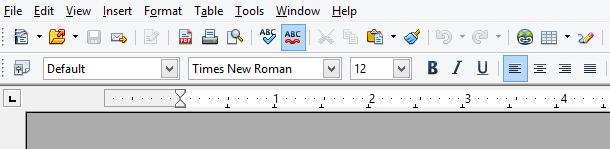 Screenshot of Open Office