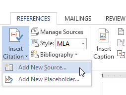 How to put works cited on microsoft word