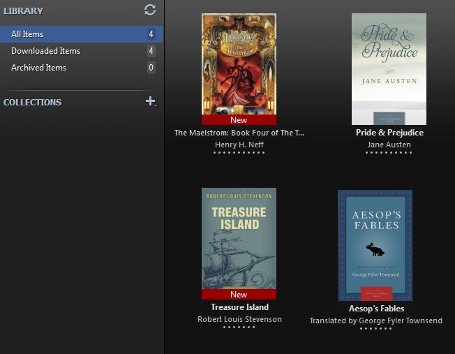 screenshot of Adobe Digital Editions