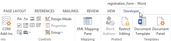 Screenshot Of Microsoft Word  Forms For Word